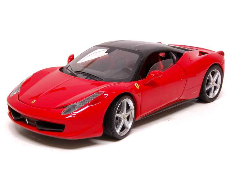 ferrari 458 italia racing 2009 elite 1 18 autos miniatures tacot. Black Bedroom Furniture Sets. Home Design Ideas