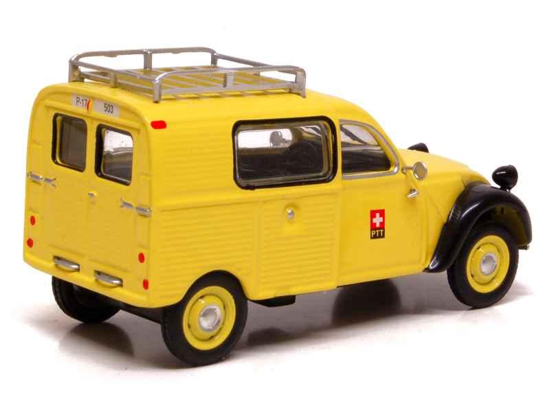 citro n 2cv azu fourgonnette poste suisse eligor 1 43 autos miniatures tacot. Black Bedroom Furniture Sets. Home Design Ideas