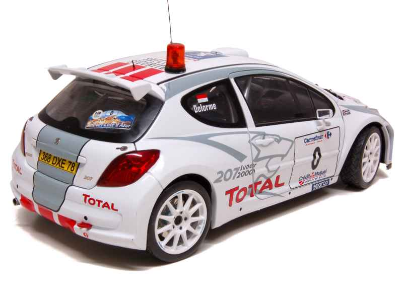 peugeot 207 s2000 rally antibes c te d 39 azur 2006 sun star 1 18 autos miniatures tacot. Black Bedroom Furniture Sets. Home Design Ideas