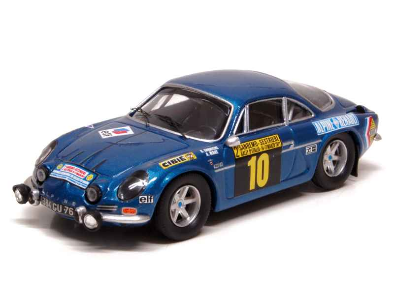 alpine a110 san remo 1971 trofeu 1 43 autos miniatures tacot. Black Bedroom Furniture Sets. Home Design Ideas