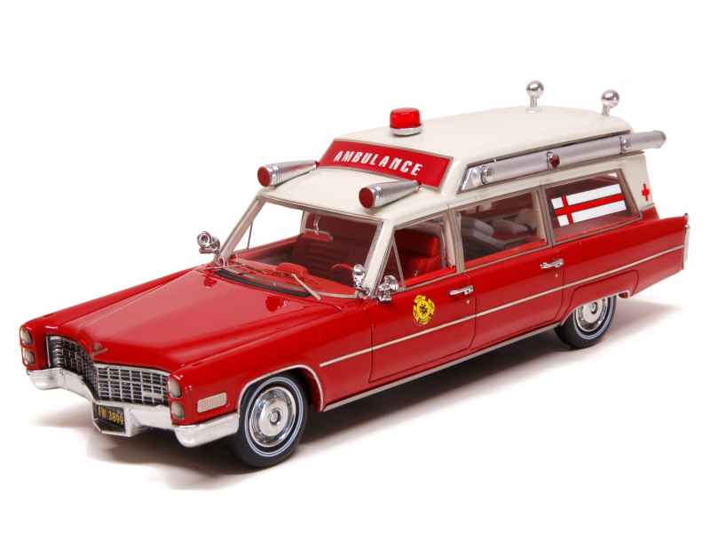 cadillac s s ambulance pompiers 1966 neo 1 43 autos miniatures tacot. Black Bedroom Furniture Sets. Home Design Ideas