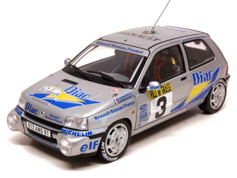renault clio 16s grasse alpin rally 1991 norev 1 18 autos miniatures tacot. Black Bedroom Furniture Sets. Home Design Ideas