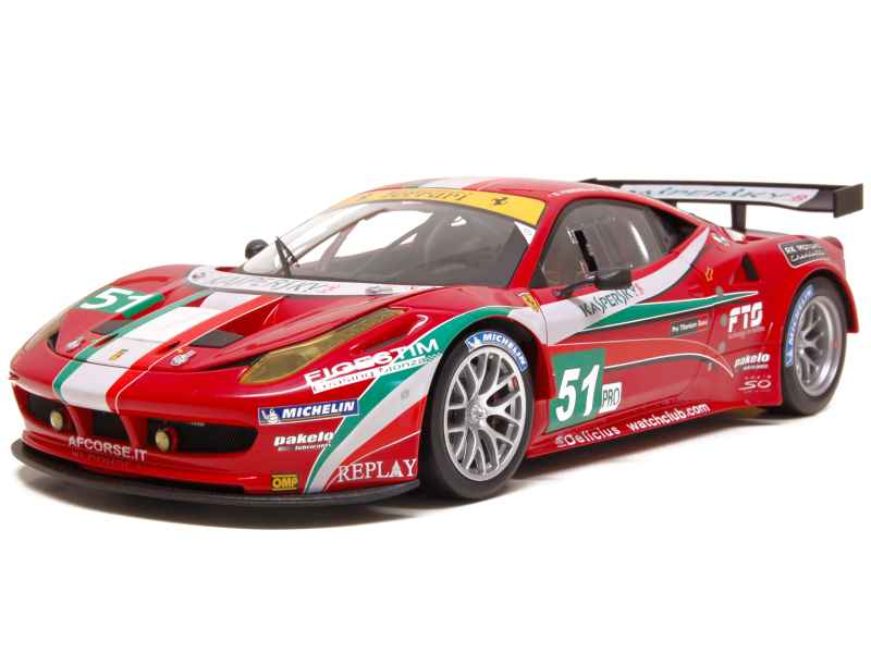 ferrari 458 italia gt2 le mans 2011 elite 1 18 autos miniatures tacot. Black Bedroom Furniture Sets. Home Design Ideas