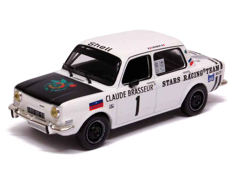 simca 1000 rallye stars racing team 1974 mod le presse al 1 43 autos miniatures tacot. Black Bedroom Furniture Sets. Home Design Ideas