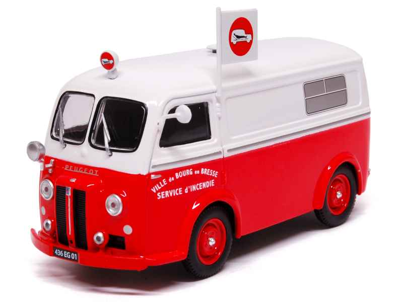 peugeot d3a ambulance pompiers eligor 1 43 autos miniatures tacot. Black Bedroom Furniture Sets. Home Design Ideas