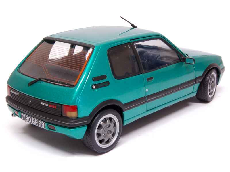 peugeot 205 gti 1 9l griffe 1990 norev 1 18 autos miniatures tacot. Black Bedroom Furniture Sets. Home Design Ideas