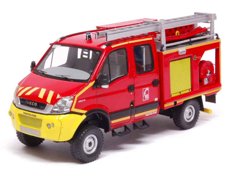 iveco daily 4x4 pompiers alerte 1 43 autos miniatures tacot. Black Bedroom Furniture Sets. Home Design Ideas