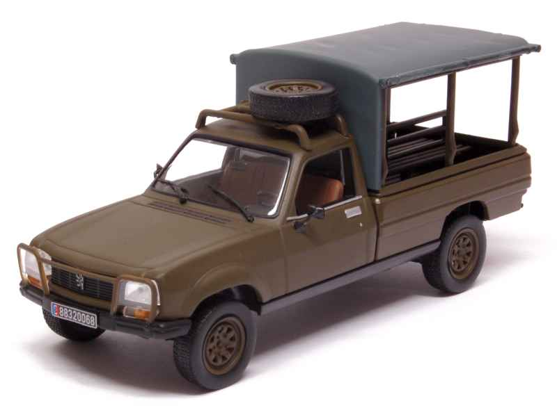 peugeot 504 pick up dangel 4x4 militaire 1979 norev 1 43 autos miniatures tacot. Black Bedroom Furniture Sets. Home Design Ideas