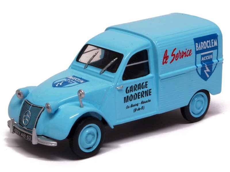 Citro n 2cv azu camionnette mod le presse h 1 43 autos miniatures tacot - Garage miniature citroen ...