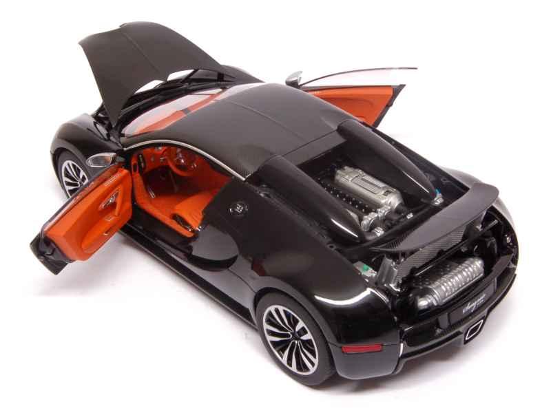 bugatti veyron 16 4 sang noir 2012 autoart 1 18. Black Bedroom Furniture Sets. Home Design Ideas