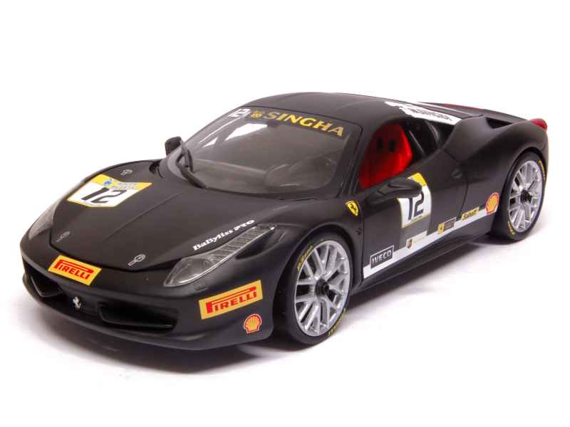 ferrari 458 italia challenge hot wheels 1 18 autos miniatures tacot. Black Bedroom Furniture Sets. Home Design Ideas