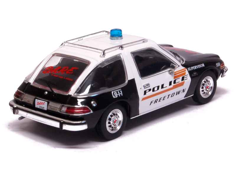 amc pacer x police 1975 premium x 1 43 autos miniatures tacot. Black Bedroom Furniture Sets. Home Design Ideas