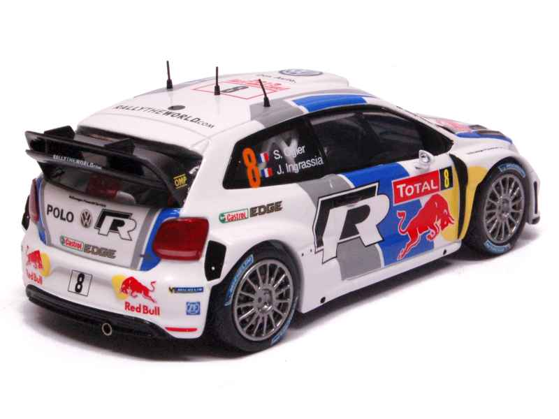 volkswagen polo wrc monte carlo 2013 ixo 1 43 autos miniatures tacot. Black Bedroom Furniture Sets. Home Design Ideas