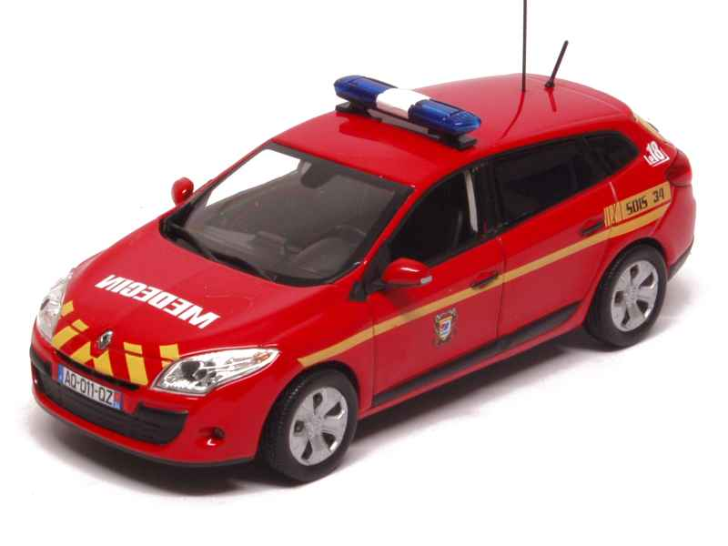norev renault megane iii estate pompiers 2011 1 43 ebay. Black Bedroom Furniture Sets. Home Design Ideas