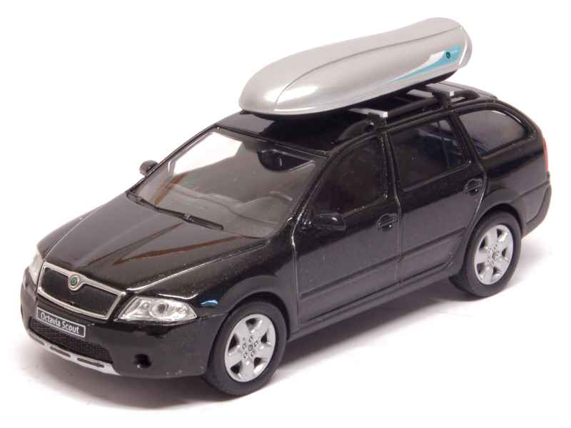 abrex skoda octavia ii combi scout roof box 1 43 ebay. Black Bedroom Furniture Sets. Home Design Ideas