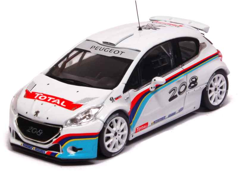 peugeot 208 t16 r5 test car 2013 ixo 1 43 autos miniatures tacot. Black Bedroom Furniture Sets. Home Design Ideas