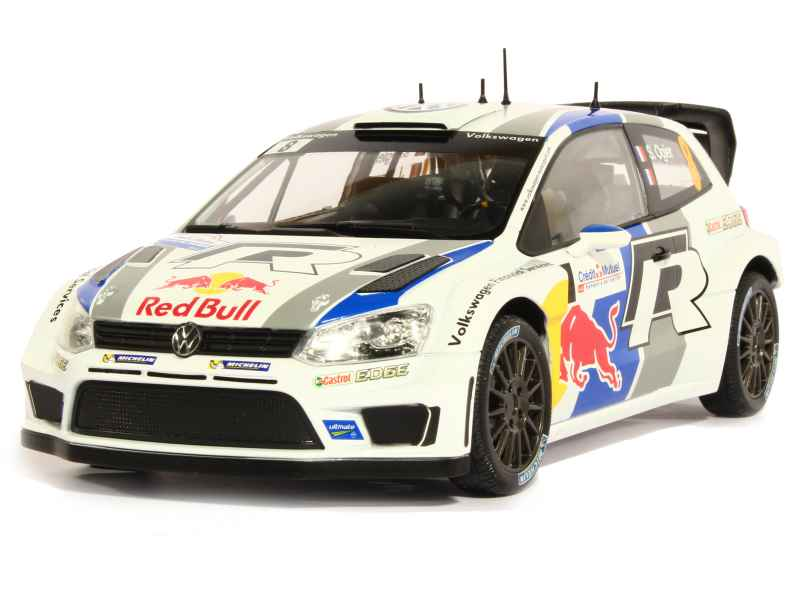 volkswagen polo wrc french rally 2013 norev 1 18 autos miniatures tacot. Black Bedroom Furniture Sets. Home Design Ideas