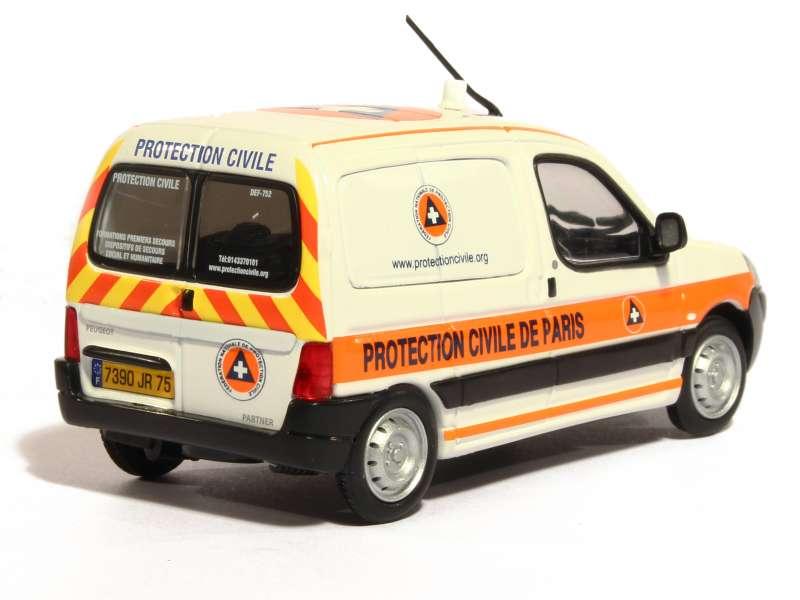 peugeot partner protection civile paris eligor 1 43 autos miniatures tacot. Black Bedroom Furniture Sets. Home Design Ideas