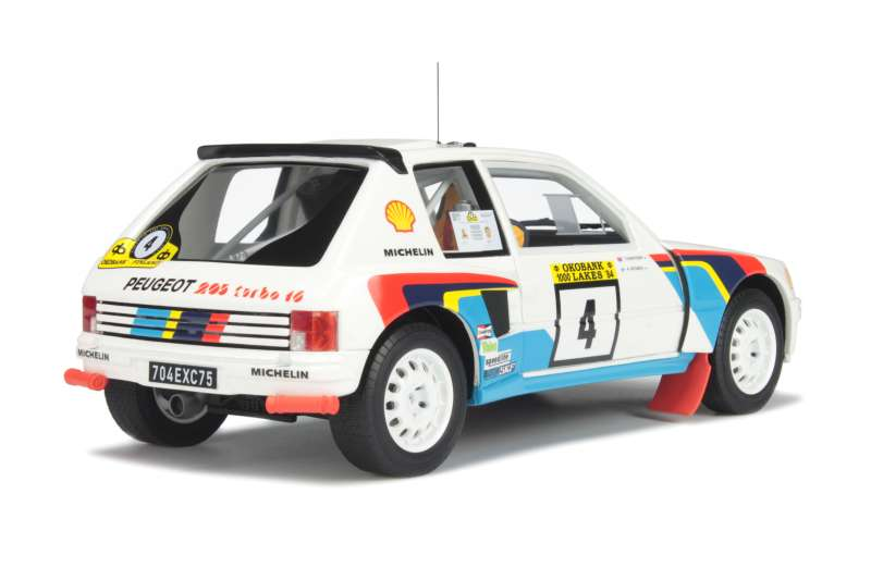 peugeot 205 t16 rally 1000 lacs 1984 ottomobile 1 18 autos miniatures tacot. Black Bedroom Furniture Sets. Home Design Ideas