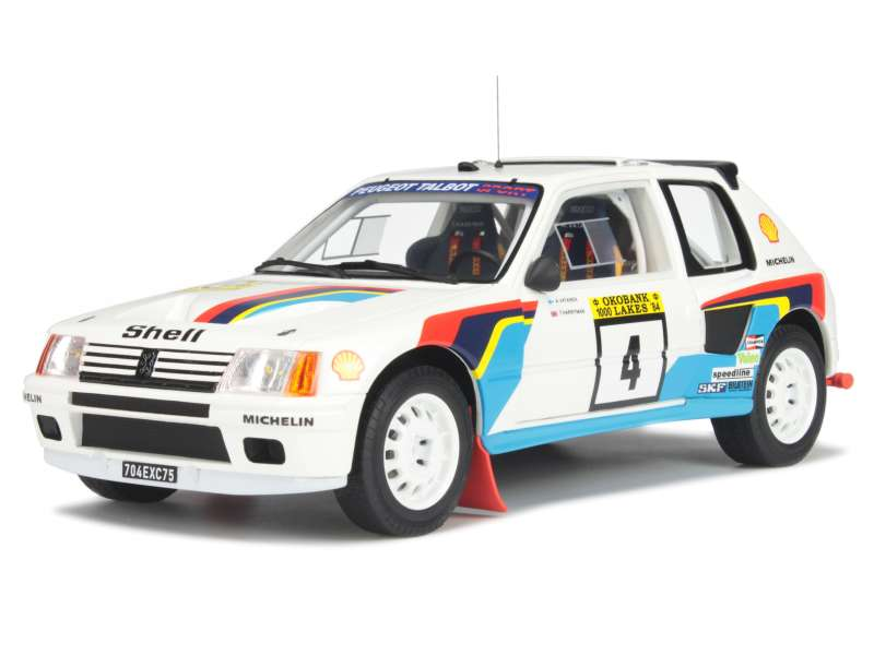 peugeot 205 t16 rally 1000 lacs 1984 ottomobile 1 18 autos miniatures tacot. Black Bedroom Furniture Sets. Home Design Ideas