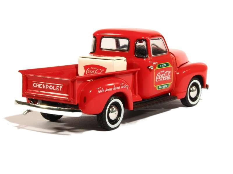 chevrolet 3100 pick up coca cola 1953 motor city 1 43 autos miniatures tacot. Black Bedroom Furniture Sets. Home Design Ideas
