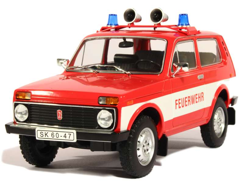 lada niva pompiers 1976 modelcar 1 18 autos miniatures tacot. Black Bedroom Furniture Sets. Home Design Ideas