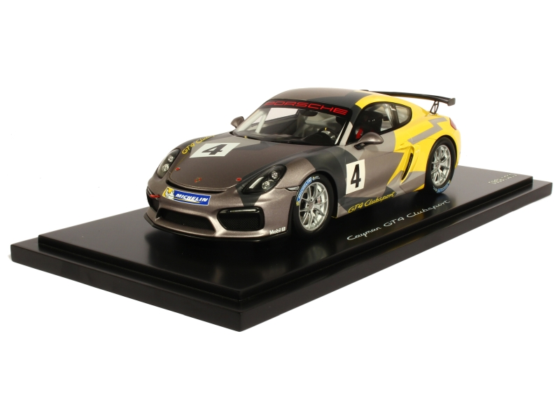 porsche cayman gt4 clubsport 981 2016 spark model 1 18 autos miniatures tacot. Black Bedroom Furniture Sets. Home Design Ideas