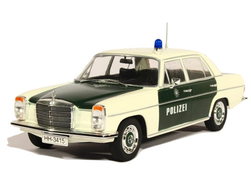 mercedes 220 w115 police 1968 modelcar 1 18 autos miniatures tacot. Black Bedroom Furniture Sets. Home Design Ideas