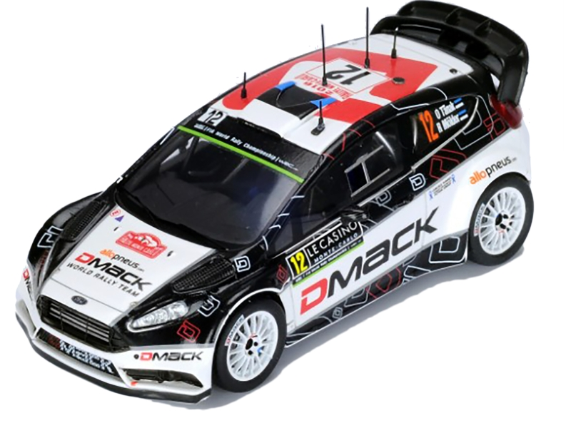 ford fiesta rs wrc monte carlo 2016 spark model 1 43 autos miniatures tacot. Black Bedroom Furniture Sets. Home Design Ideas
