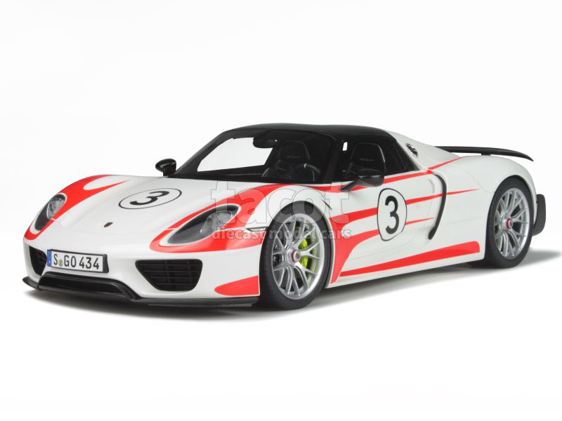 porsche 918 spyder weissach package 2015 gt spirit 1 12 autos miniatures tacot. Black Bedroom Furniture Sets. Home Design Ideas