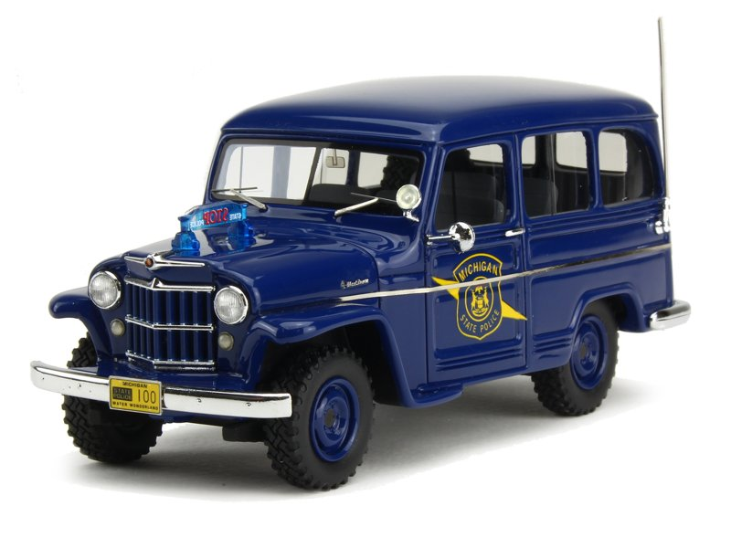 neo jeep willys station wagon police 1954 1 43 ebay. Black Bedroom Furniture Sets. Home Design Ideas