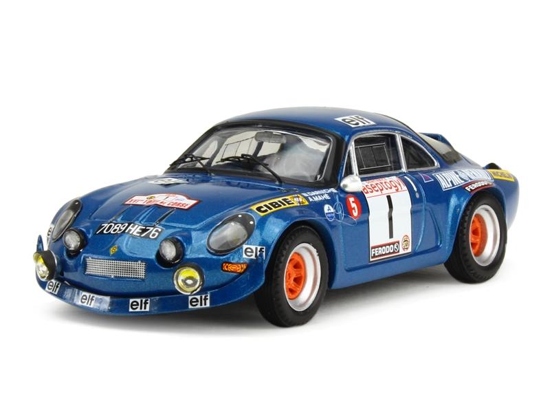 alpine a110 tour de corse 1972 trofeu 1 43 autos miniatures tacot. Black Bedroom Furniture Sets. Home Design Ideas