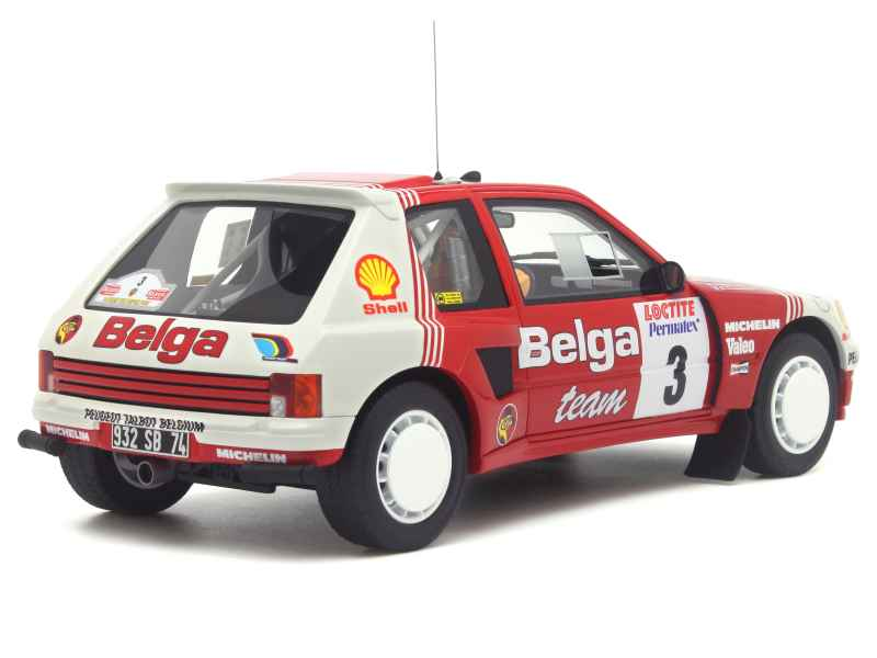 peugeot 205 t16 rally ypres 1985 ottomobile 1 18 autos miniatures tacot. Black Bedroom Furniture Sets. Home Design Ideas