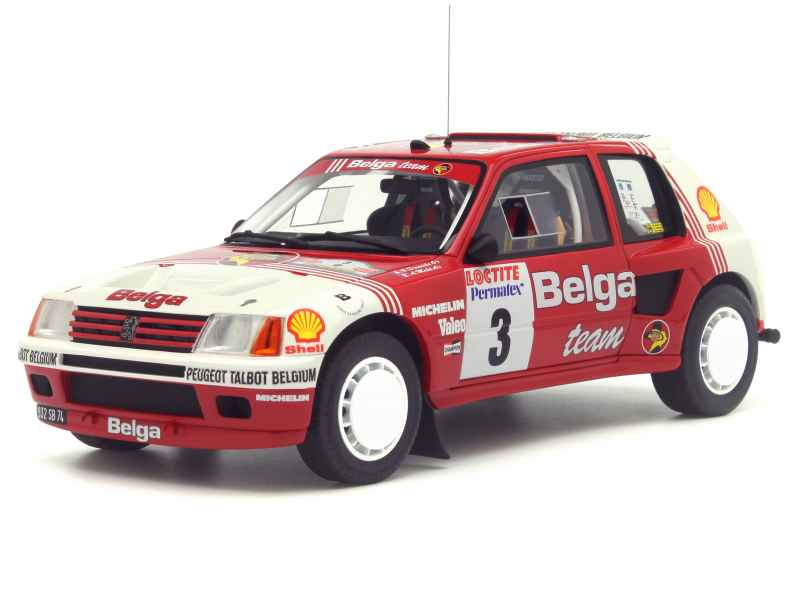 84611 Peugeot 205 T16 Rally Ypres 1985