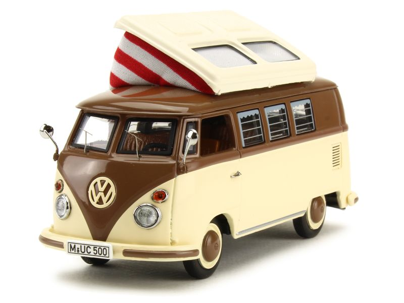 volkswagen combi t1 camping car schuco 1 43 autos miniatures tacot. Black Bedroom Furniture Sets. Home Design Ideas