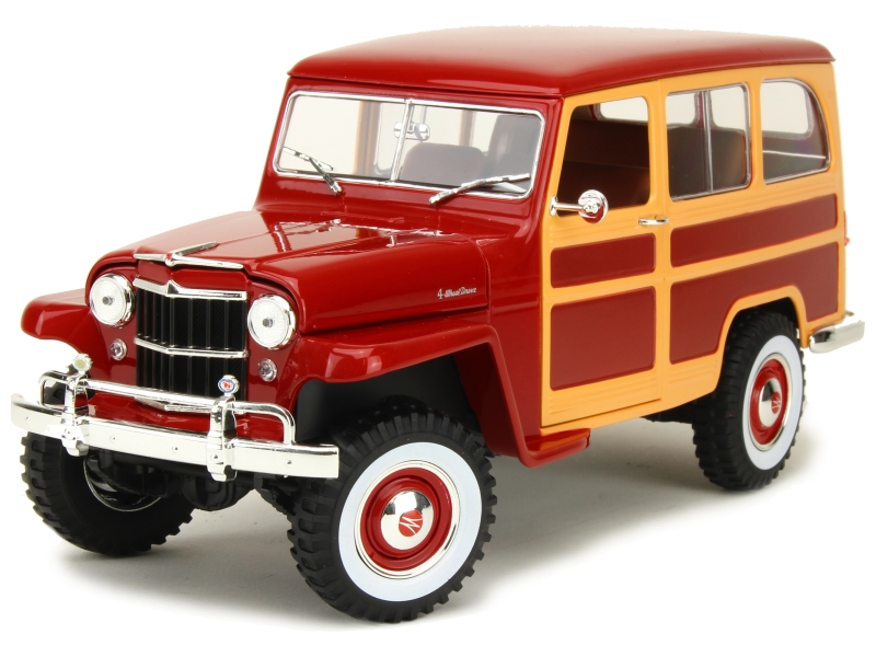 willys jeep station wagon 1955 lucky die cast 1 18 autos miniatures tacot. Black Bedroom Furniture Sets. Home Design Ideas