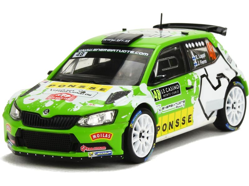 skoda fabia iii r5 monte carlo 2016 ixo 1 43 autos miniatures tacot. Black Bedroom Furniture Sets. Home Design Ideas