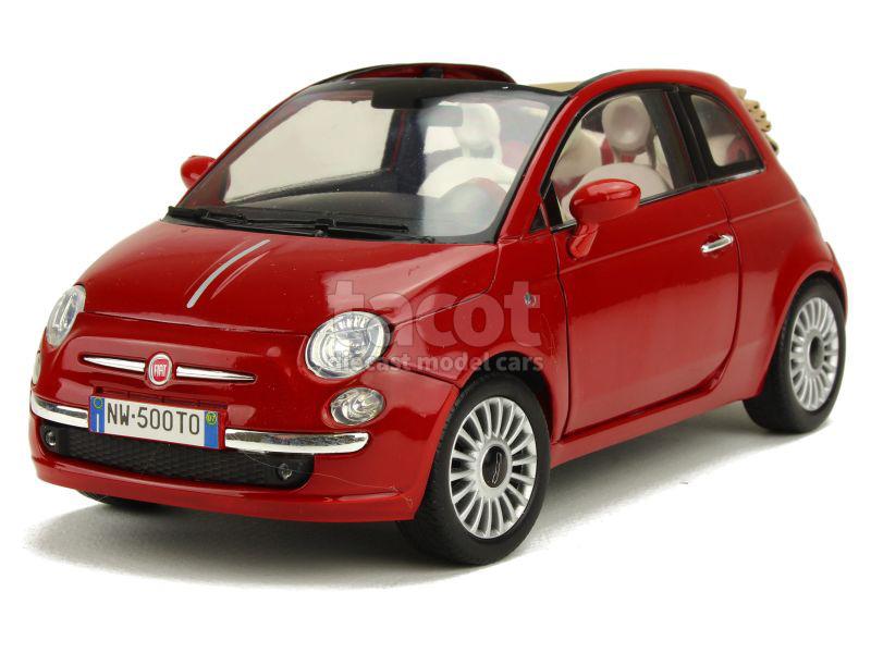 fiat 500 cabriolet 2015 motor max 1 18 autos miniatures tacot. Black Bedroom Furniture Sets. Home Design Ideas