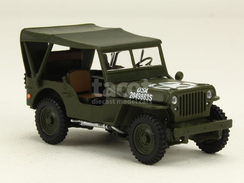 willys jeep militaire cararama 1 43 autos miniatures tacot. Black Bedroom Furniture Sets. Home Design Ideas