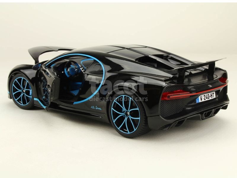 bugatti chiron 0 400km h burago 1 18 autos miniatures tacot. Black Bedroom Furniture Sets. Home Design Ideas