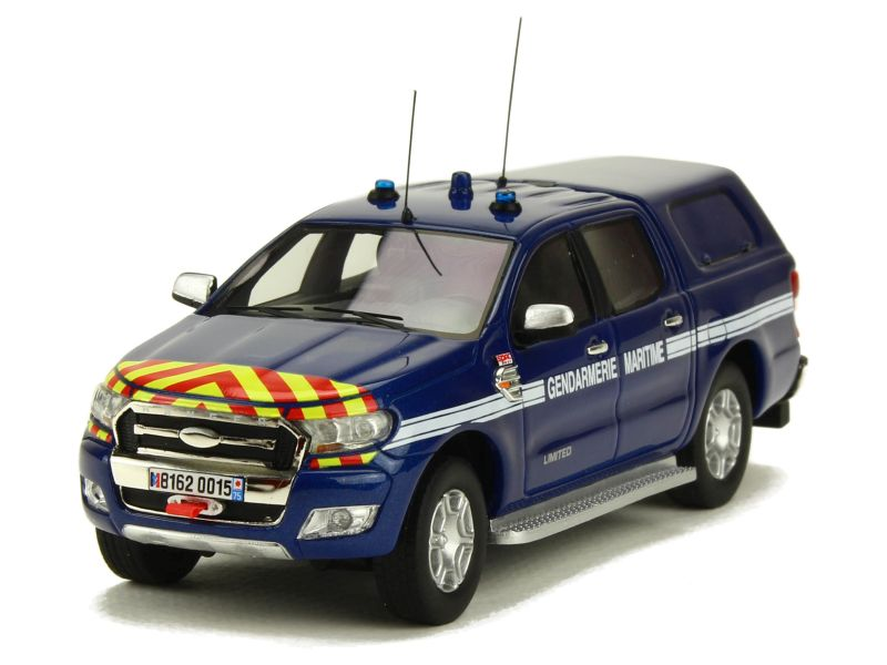 ford ranger pick up gendarmerie 2016 alarme 1 43 autos miniatures tacot. Black Bedroom Furniture Sets. Home Design Ideas