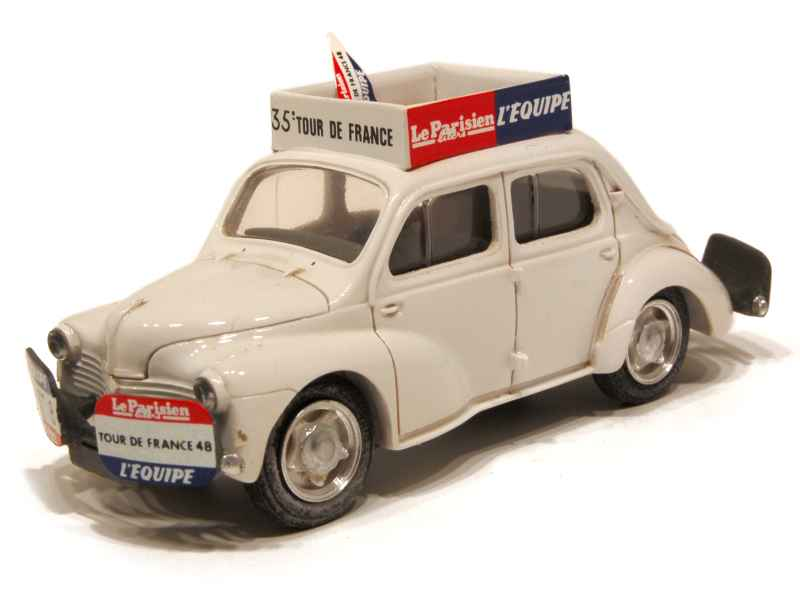 renault 4cv tour de france 1948 provence moulage 1 43 autos miniatures tacot. Black Bedroom Furniture Sets. Home Design Ideas