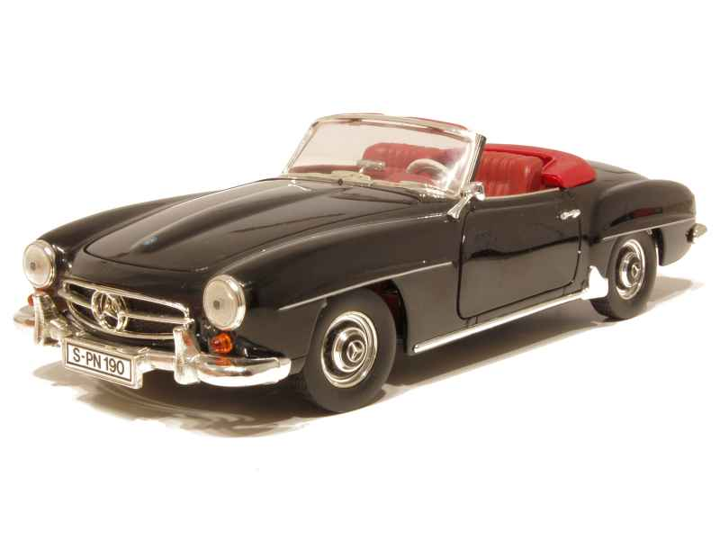 mercedes 190 sl w121 cabriolet 1960 ertl 1 18 autos miniatures tacot. Black Bedroom Furniture Sets. Home Design Ideas